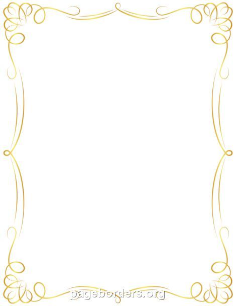 Golden Border With Images Clip Art Borders Page Borders