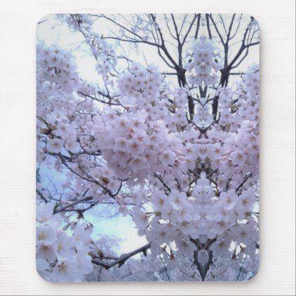 Sakura Cherry Blossom Mousepad Zazzle Com Sakura Cherry Blossom Cherry Blossom Sakura