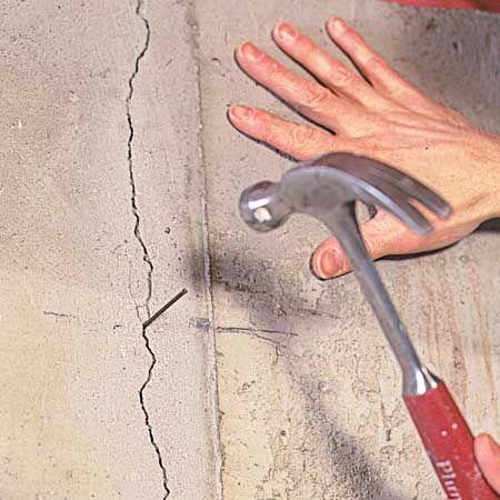 Fixing Cracks In Concrete Repair Cracked Concrete Fix Cracked Concrete Concrete Walls Diy