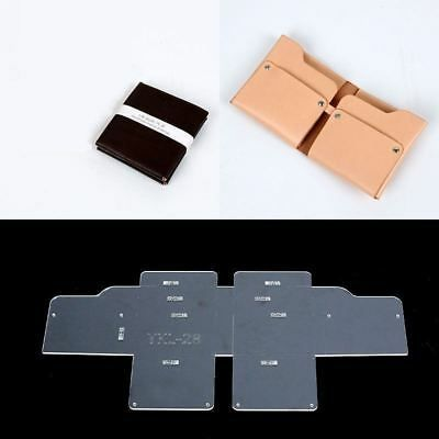 13pcs Clear Acrylic Wallet Pattern Stencil Template Sets Leather
