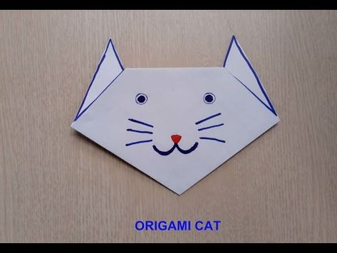 Origami Cat(face) | Origami patterns, Origami instructions for ... | 355x474