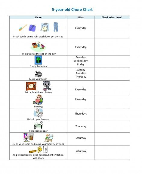 20 Best Chore Charts for Kids Chart and Kid kid - sample chore chart