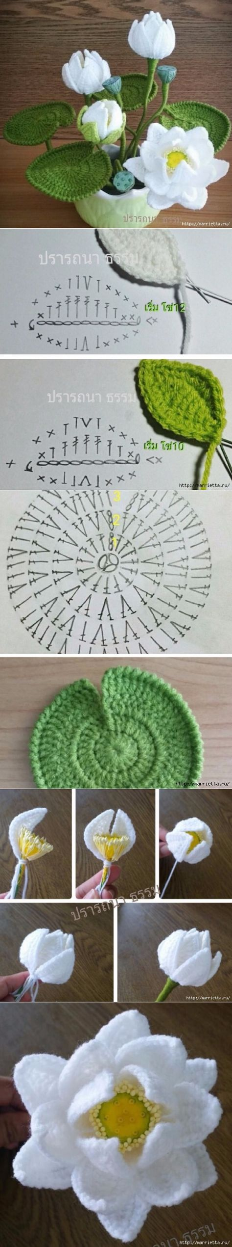 182 besten Häkelblumen Bilder auf Pinterest | Blumen häkeln, Basteln ...