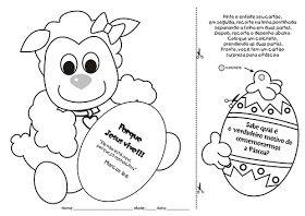 Atividades Recortar E Colar Cartao De Pascoa Pascoa Crista