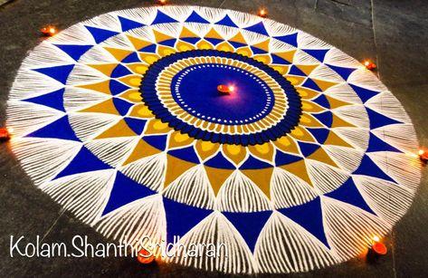 30 Beautiful Diwali Rangoli and Kolam Designs By Shanthi