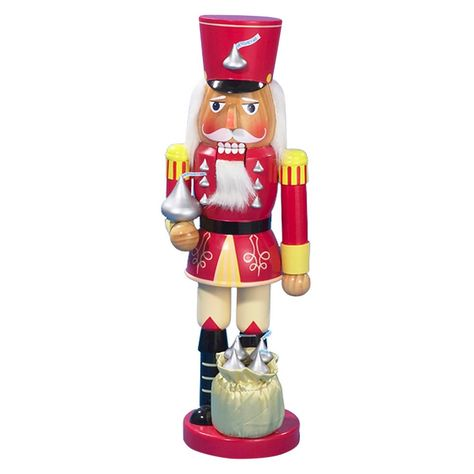 This Kurt Adler 14 Hershey Kisses Soldier Nutcracker is a fun festive way to add to any holiday décor or nutcracker collection. Perfect for those with a sweet tooth this classic soldier nutcracker stands at attention adorned with tiny silver Hershey Kisses detailing on his uniform; at his feet is a bag filled with more Hershey Kisses for an added touch of whimsy. Color: Multi-Colored.. Hershey Kisses Soldier Nutcracker 14 M #Home #HomeDecor #DecorativeAccentPieces #DecorativeFigurines