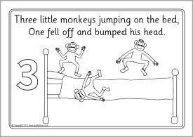 Five Little Monkeys Coloring Page