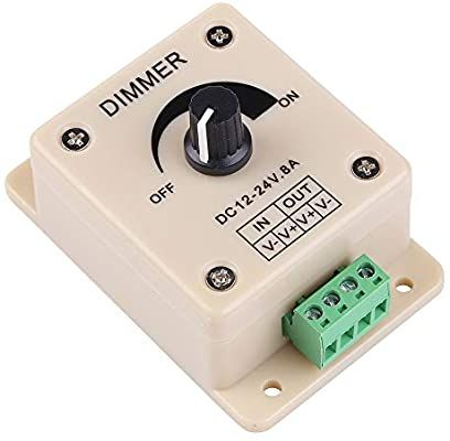 Pwm Dimming Controller For Led Lights Or Ribbon 12 Volt 8 Amp 3301 Dimmer Switches Amazon Com In 2020 Led Lights Usb Flash Drive Dimmer