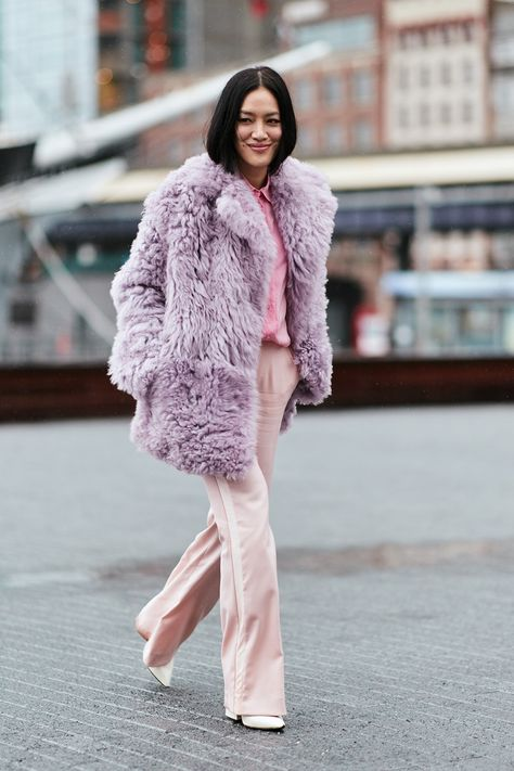 I love these colours together - pastel gorgeousness! The Latest Street Style From New York Fashion Week