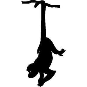 Hanging Monkey Polyvore Monkey Tattoos Monkey Art Monkey Drawing