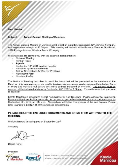 Annual General Meeting Notice Templates 5 Free Word