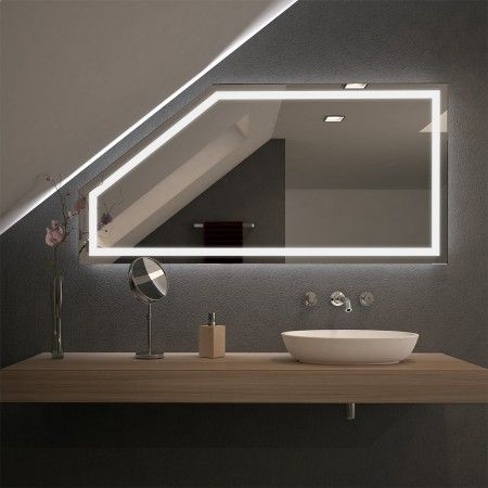 Spiegel Fur Dachschragen Mit Led Beleuchtung Fiola Badezimmer