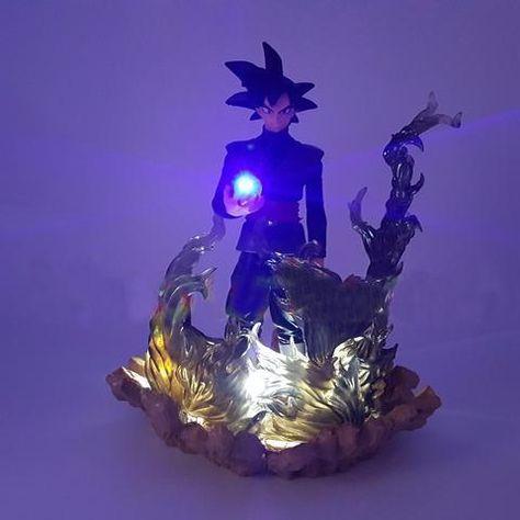 Dragon Ball Z Son Goku Black Zamasu Diy Led Night Lights Table Lamp Dragon Ball Z Dragon Ball Anime