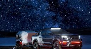 Nissan Navara Dark Sky Concept Packs Plenty Of Star Power Thanks Its To Observatory Class Telescope Carscoops Nissan Navara Dark Skies Telescope