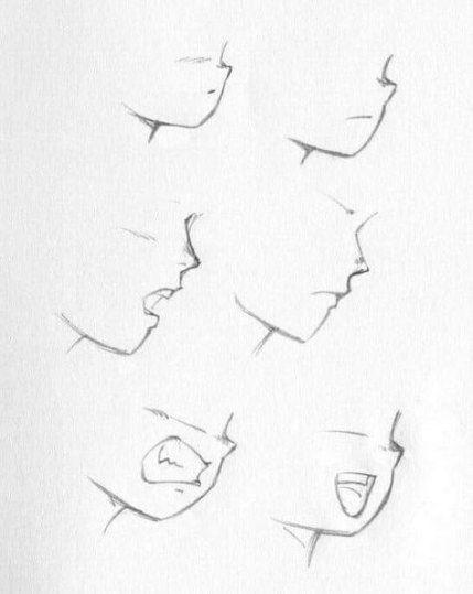 Drawing Faces Sideways 67 Ideas Drawing Heads Anime Lips Manga Drawing
