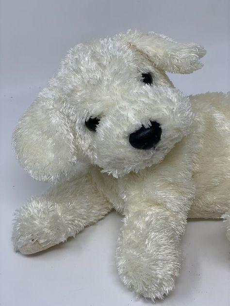 Details About Ty Classic Plush Tidbit The Dog 2001 White Dog