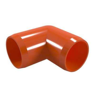 1 2 In Furniture Grade Pvc 90 Degree Elbow In Orange 10 Pack Furniture Grade Pvc Pvc Fittings Pvc
