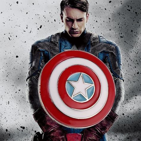 Captain America Brooch Logo Marvel Avengers Superhero Enamel Shield Pin Badge Fashion New Hot Movie Jewelry Men Women Wholesale