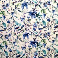 Ltkanina Kwiaty Malowane Niebieskie Obiciowe24 Pl Tkaniny Obiciowe Materialy Tapicerskie Tkaniny Tapicerskie Materia Printed Shower Curtain Prints Wallpaper