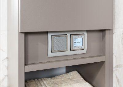 Badezimmerschrank Grau Mit Radio P Max Massmobel