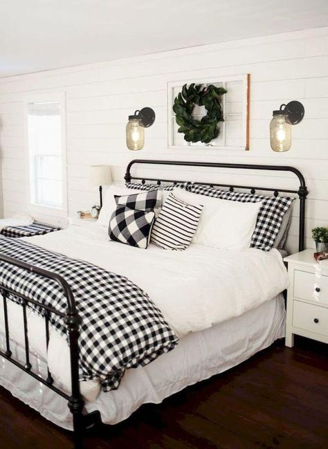 the joy of hygge: 6 ways to create a cozy winter bedroom - DIY Home Decor For Apartments! - - the joy of hygge: 6 ways to create a cozy winter bedroom - DIY Home Decor For Apartments! Farmhouse Style Bedrooms, Farmhouse Master Bedroom, Farmhouse Bedroom Furniture, Black Bedroom Furniture, Bedroom Rustic, Farmhouse Style House Decor, Country Bedrooms, Home Design, Design Ideas