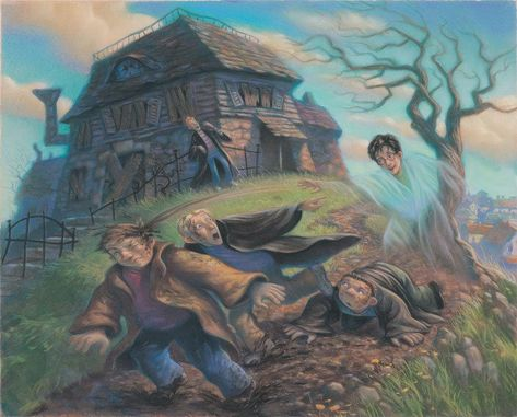Harry Potter Cloak of Invisibility Mary GrandPre SIGNED Giclee on Fine Art Paper Limited Edition of 250