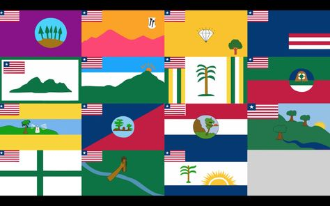 Worst Liberia Yes These Are Real And Official Flags Representing All The County S Of Liberia Liberia Flag Liberian Flag Flag