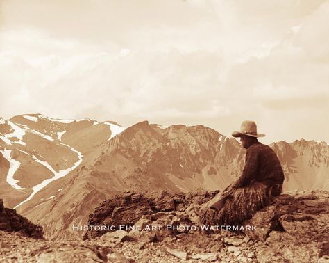 OLD WEST WYOMING COWBOY VINTAGE PHOTO GUARDING HERD 1889 8x10  #21672