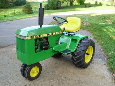 lawn tractor dual wheels John Deere 314 Narrow Front End with
