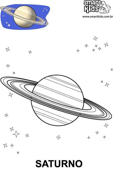 fichas para trabajar y colorear el sistema solar
