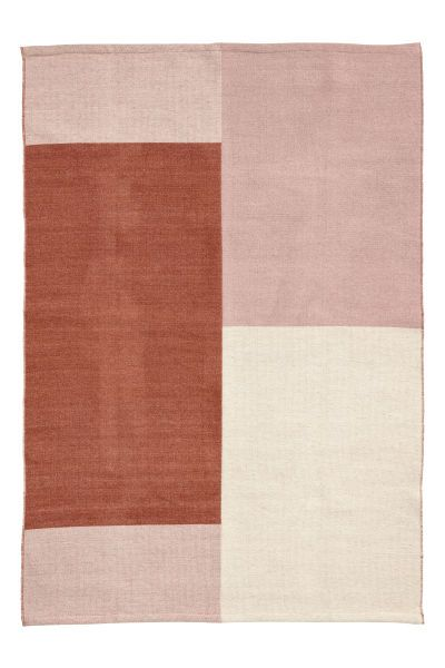 Check This Out Color Block Rug In A Woven Wool And Cotton Blend Visit Hm Com To See More Rugs On Carpet Colorful Rugs Abstract Rug