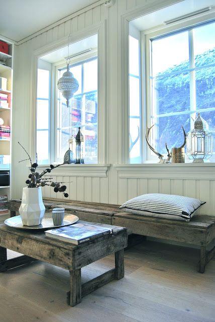 window bench of wood