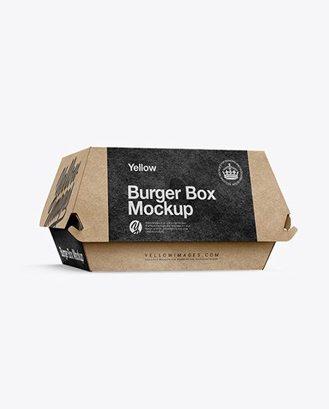 Download Kraft Burger Box Mockup Half Side View In Box Mockups On Yellow Images Object Mockups Box Mockup Free Packaging Mockup Packaging Mockup