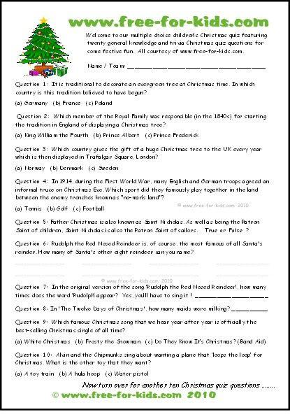 Multiple Choice Xmas Quiz Thumbnail Jpg Xmas Ideas Christmas Quiz Christmas Trivia For Kids Christmas Quizzes