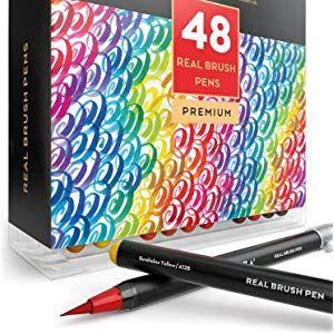 Arteza Pinselstifte Set Mit 48 Stiften In Verschiedenen Farben