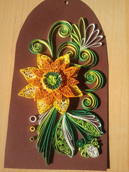 SUNFLOWER quilled ornament