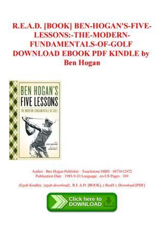 30++ Ben hogan the five fundamentals of golf pdf viral