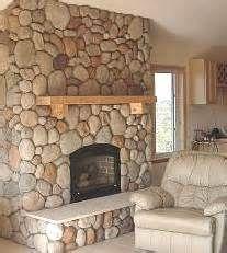 Rock Fireplace massive rock fireplaces, river stones | faux river rock panels