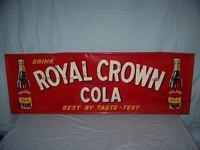 RC Cola Royal Crown Vintage Tin Metal Sign