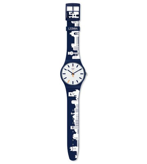 Swiss made, the Swatch watch SWATCH LISBOA features a quartz movement, a silicone strap and a plastic watch head. Discover more Originals New Gent on the Swatch United States website.