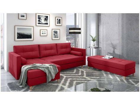 Stylefy Kaito Ecksofa Rot Links Kunstleder Madryt In 2020 Home Home Decor Decor