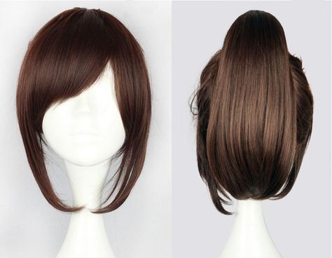 Attack on Titan Sasha Blouse 35cm 13.78  Short Straight Cosplay Wigs for Women Claw Clip Ponytail Anime Synthetic Hair + Wig Cap   - Cosplay #35cm #Anime #Attack #blouse #Cap #Claw #Clip #Cosplay #Hair #Ponytail #Sasha #Short #Straight #Synthetic #Titan #Wig #Wigs #Women #HairClips #Hair #Clips