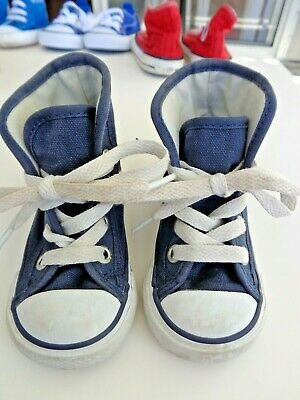 Coonverse All Star Chuck Taylor Navy Blue Toddler Hi Top Tennis Shoes Sz 4 In 2020 Chuck Taylors Tennis Shoes Blue Converse