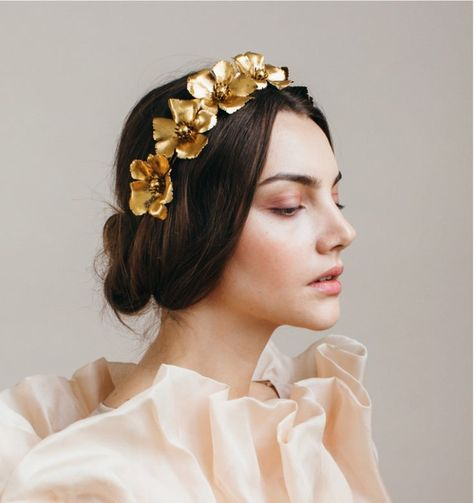 New Makeup Bridal Gold Hair Pieces Ideas