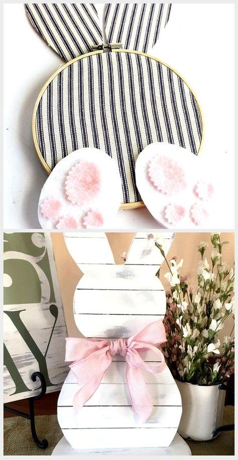 Embroidery Hoop Bunny Easter Wreath - Easy DIY Easter craft!,  #Bunny #Craft #DIY #Easter #Easy #embroidery #Hoop #Wreath