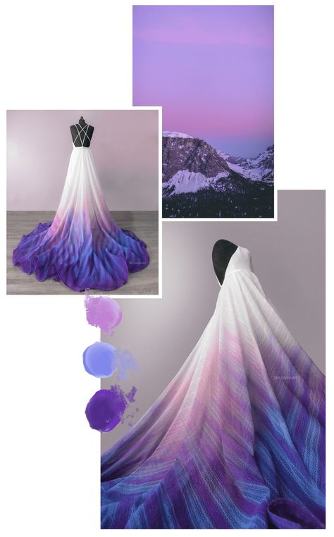 Canvas Bridal by TaylorAnnArt Rainbow Wedding Dress, Ombre Wedding Dress, Custom Wedding Dress, Luxury Wedding Dress, Colored Wedding Dresses, Wedding Gowns, Pretty Dresses, Beautiful Dresses, Bridal Alterations