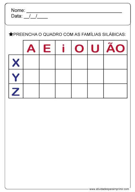 Atividades Para Imprimir Atividades Alfabetizacao E Letramento