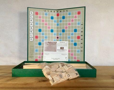 Scrabble Jeu Lettres En Bois Selchow Righter Neuf Vintage Selchow