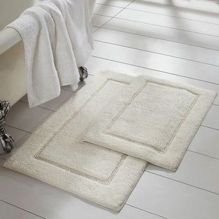 Modern Threads 2 Pack Solid Loop With Non Slip Backing Bath Mat