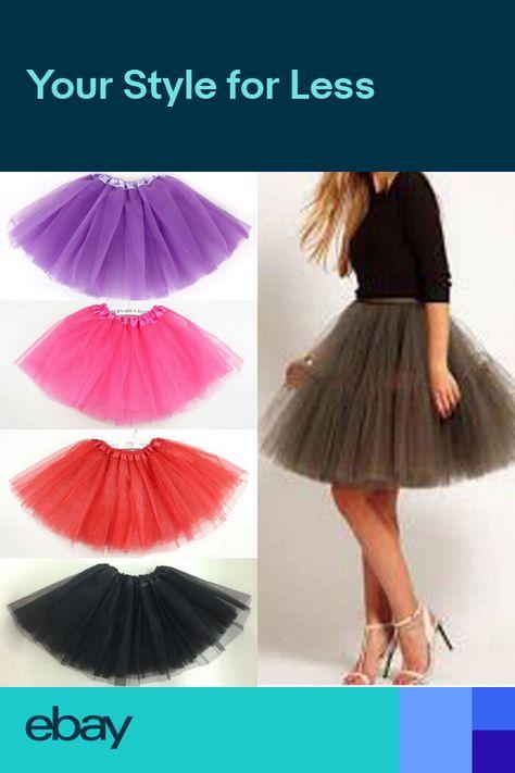 841384ed2 Women Lady Party Costume Petticoat Princess Tulle Tutu Skirt Pettiskirt  Colorful